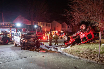 North St. Rollover with Extrication (Milford, CT) 2/28/20