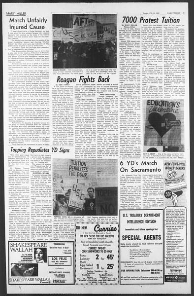 Daily Trojan, Vol. 58, No. 70, February 14, 1967