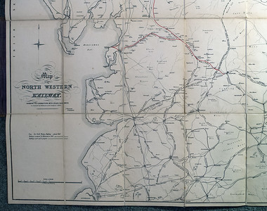 1846 (little) North Western Railway map