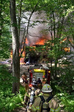 Structure Fire - Unknown Address, Lebonan, CT -  07/23/16