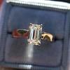 1.00ct Emerald Cut Diamond Solitaire, Platinum 5