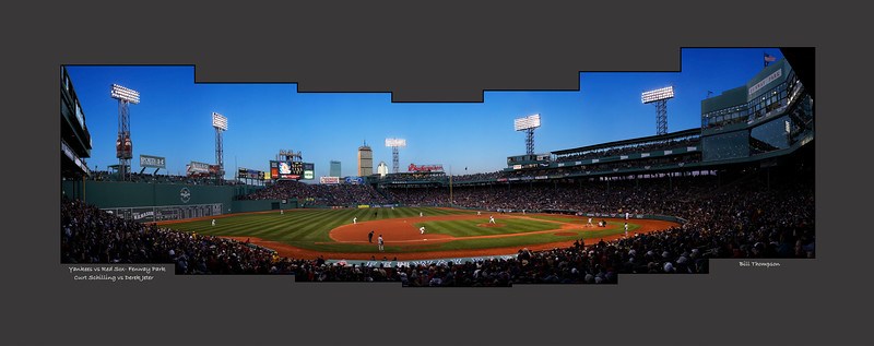 Yankees vs Red Sox- Panorama