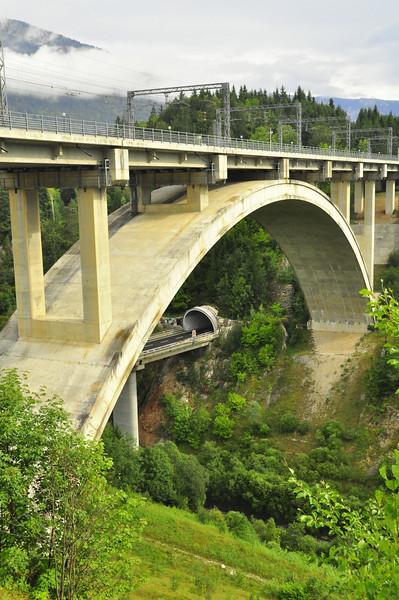 trains above and trucks below