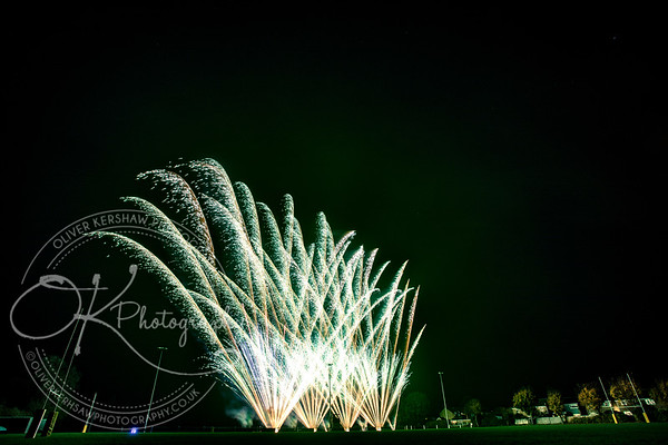 Fireworks at South Leicester Rugby Club