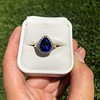 7.00ctw Tanzanite and Diamond Halo Ring 24