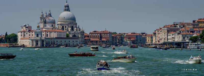 San Giorgio Maggiore Bell Tower, Lagoa de Veneza, Italia
