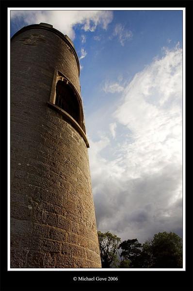 Blaise Castle tower in evening light (64322773).jpg