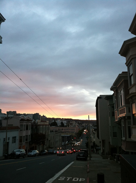 Another beautiful SF sunset from Polk street (forget the cross, but north of Broadway by a few blocks)