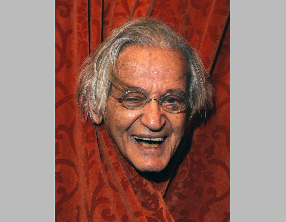 . Comedian Irwin Corey at the Ethel Barrymore Theatre in New York. Corey, the wild-haired comedian and actor who was known for his nonsensical style and who billed himself as �The World�s Foremost Authority,� died Monday, Feb. 6, 2017, at his home in Manhattan. He was 102. (AP Photo/Jim Cooper, File)