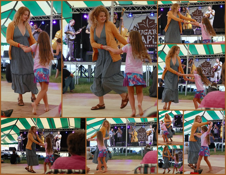 Mother & Daughter Dancing with Chicken Wire Empire.JPG