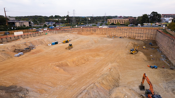Reston Row Construction - October 2021 - Drone