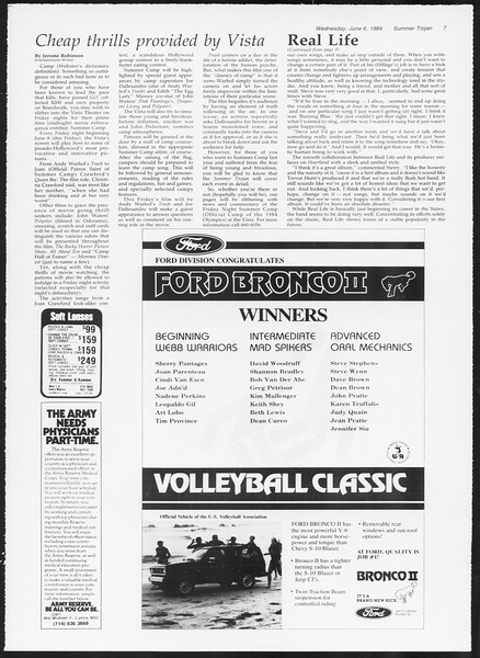 Summer Trojan, Vol. 96, No. 3, June 06, 1984