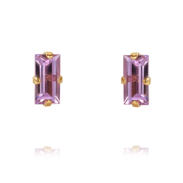 Baguette Earrings / Violet Gold