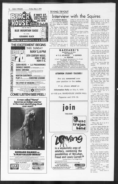 Daily Trojan, Vol. 61, No. 117, May 01, 1970