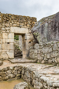 The main gate entrance to Machu Picchu ruins