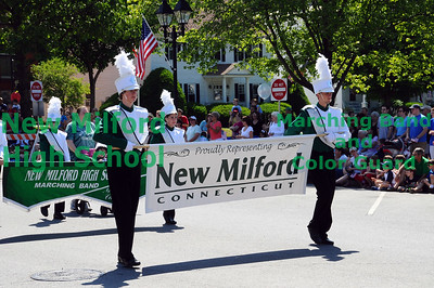New Milford High School Marching Band at Memorial Day Parade, May 31, 2010