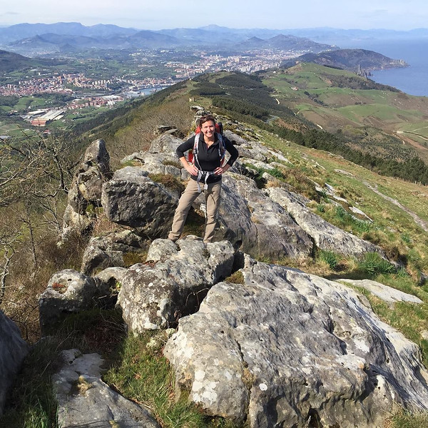 "Day 1, Camino de Santiago del Norte. We took the so-called ""alpinist"" route in the hills outside of Guadelupe. A good challenge for 16 miles, included conversations in broken and blended French and Spanish with locals taking day hikes and doing trail runs. A good workout to pay off with pinxtos (Basque tapas) in San Sebastián. via Instagram http://ift.tt/1rgwMiE"