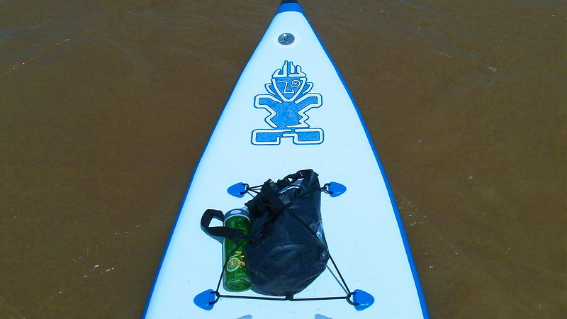 This inflatable touring board is suprisingly rigid, stable and sturdy - quite impressive.