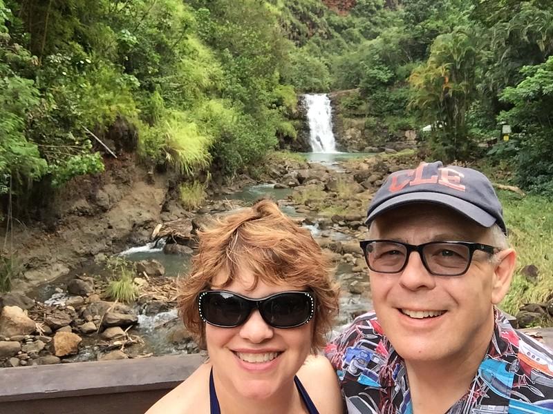 Waimea Falls  at the Waimea Botanical Gardens