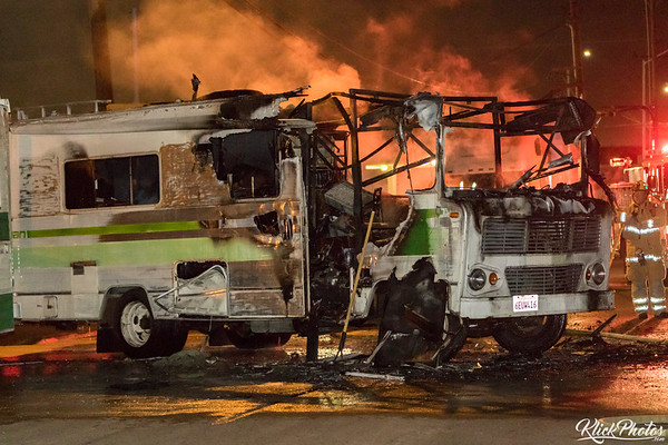 Midway City Motor Home Fire - March 10th, 2017