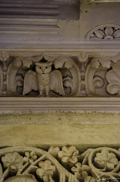 Old dining hall carvings