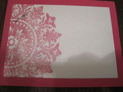 Invitation Sample - December 2009