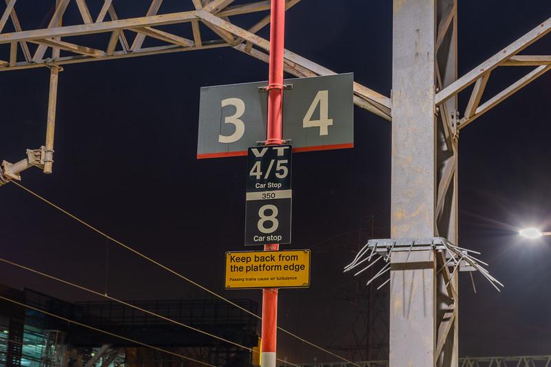 Platform Signage - Stafford, VTWC
