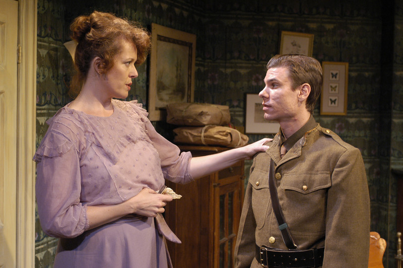 Anne-Marie Cusson and Aaron Krohn in ECHOES OF THE WAR: TWO SHORT PLAYS by J.M. Barrie  Photo: Richard Termine
