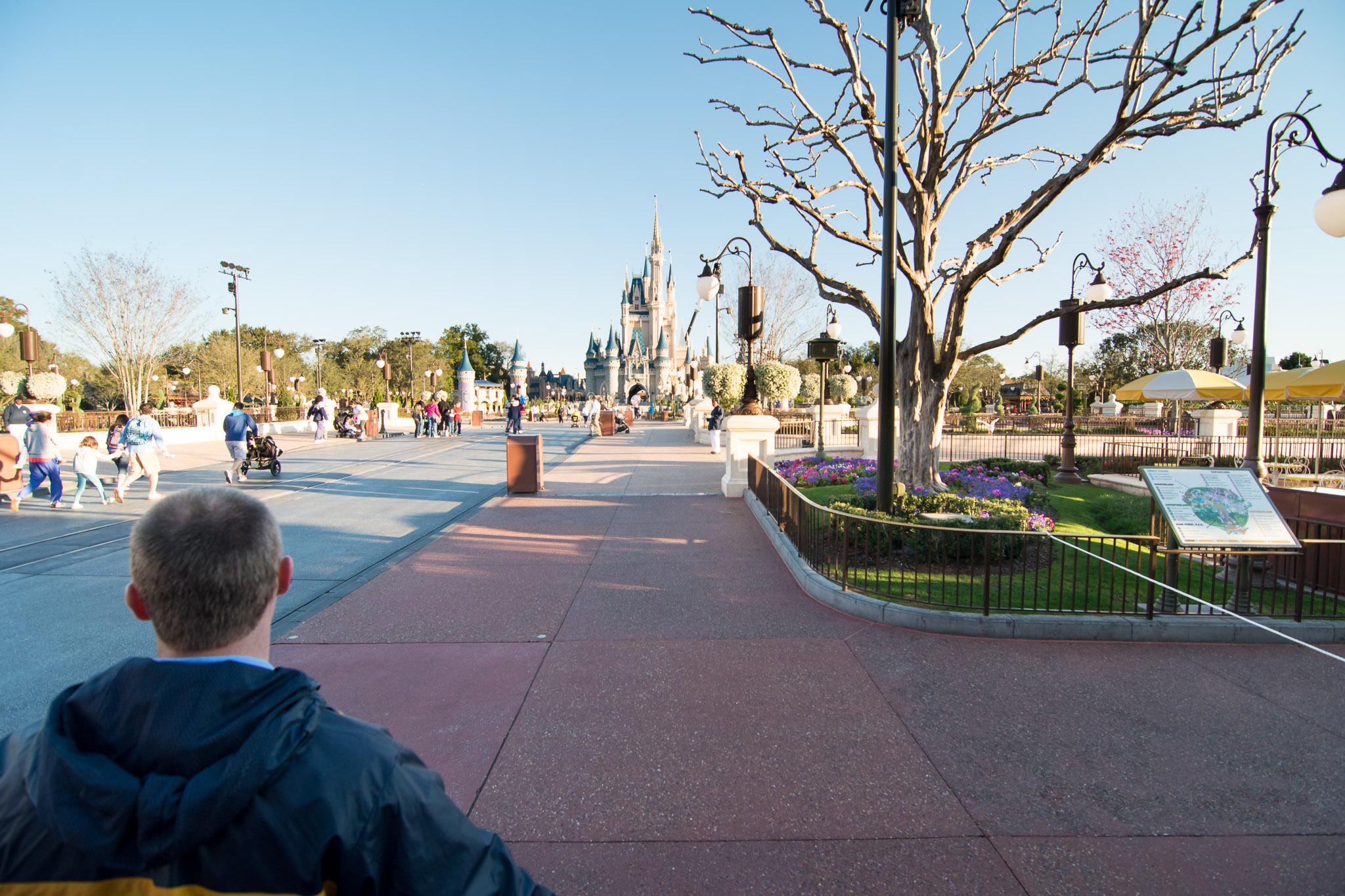 Castle at Rope Drop - Walt Disney World Magic Kingdom