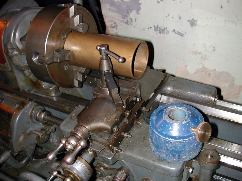 ..About to machine apart on the 10 inch Tool Room Lathe of mine.