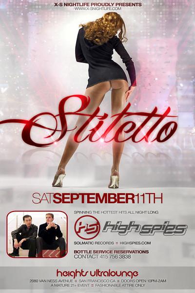 X-S Nightlife presents STILETTO @ HEIGHTS Ultralounge 9.11.10