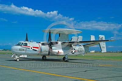 U.S. Navy E-2 Hawkeye Airplanes in Bicentennial Color Scheme