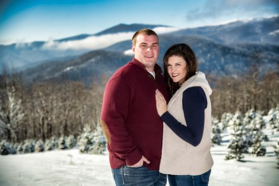 Potter Robinette Engagement Snow