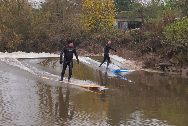 This next selection of shots shows some great bore wave action and the hazards of river surfing. Keep watching.