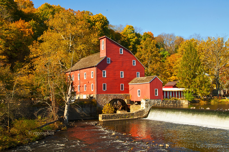 Day 296: Old Red Mill - Oct 22.  Took a ride yesterday on a foliage hunt.  Saw some beautiful colors but not in places where one could pull over to photograph.  Did get some shots of one of my favorite places though - the Red Mlll in Clinton NJ.