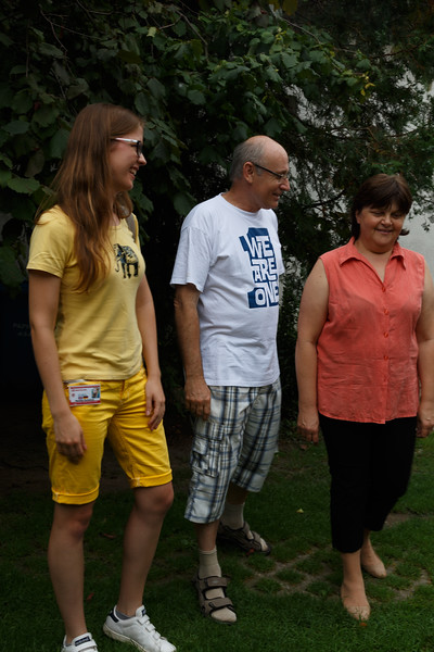 """Our guide and hosts for a """"home visit"""" in Bratislava Region, Slovakia"""