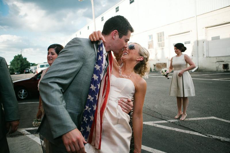 Bean & Cam's  4th of July wedding at Prairie St. Brewhouse. Wedding photographer -Ryan Davis Photography – Rockford, Illinois.