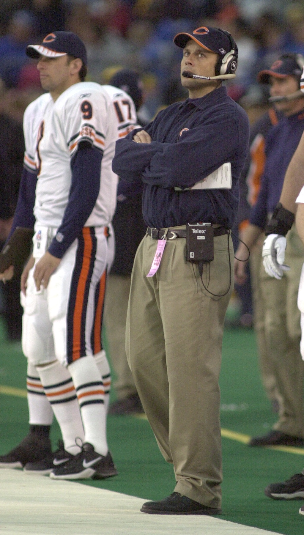 . Chicago Bears head coach Dick Jauron during play against the Detroit Lions during Sunday\'s game played at the Pontiac Silverdome on Sunday Dec. 30, 2001. The Bears won 24-0 over the Lions.