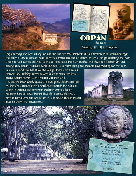 Copan ruins, Honduras. February 27, 1987