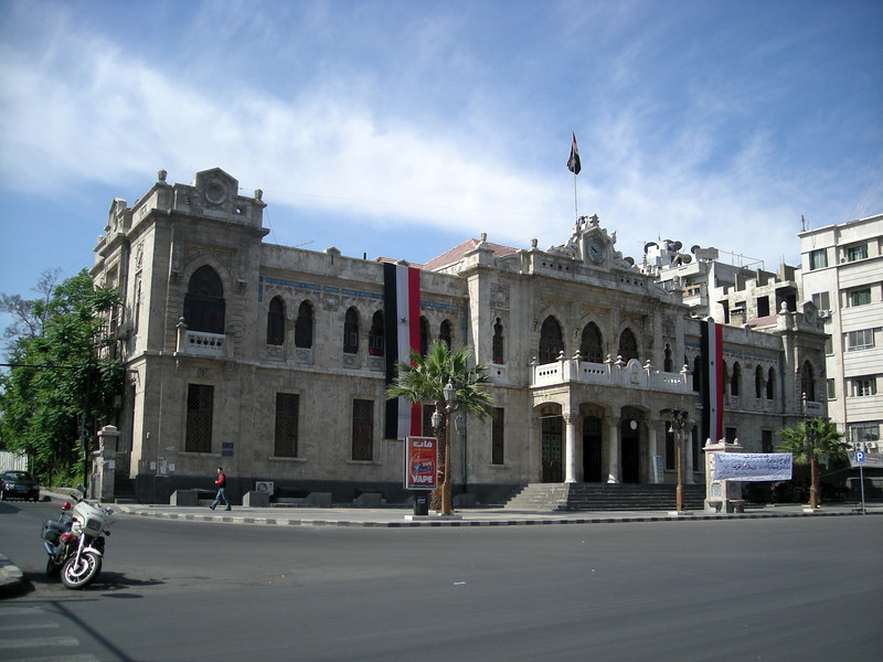 the Hijaz train station in Damascus
