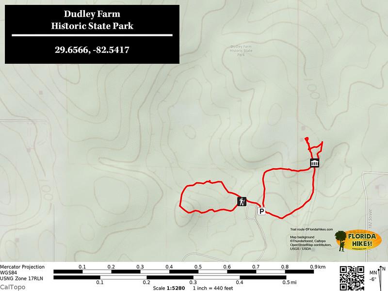 Dudley Farm Trail Map