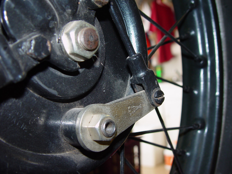 Front brake hub reference