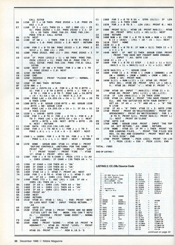 At the end of the page is the start of the 6502 Assembly Language listing...
