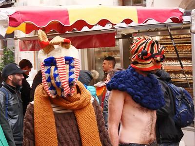 Défilé du fashion week-end au marché