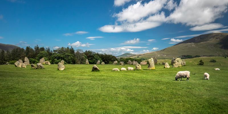 Castlerigg Stone Circle with Sheep