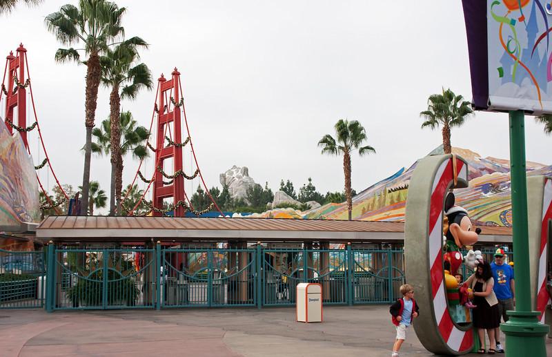 California Adventure entry gates.