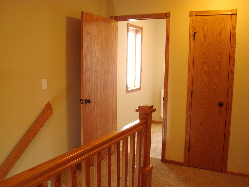 Upstairs, hallway to laundry room