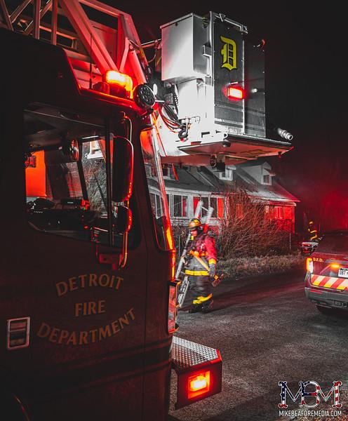 Detroit MI, House Fire 1-16-2021