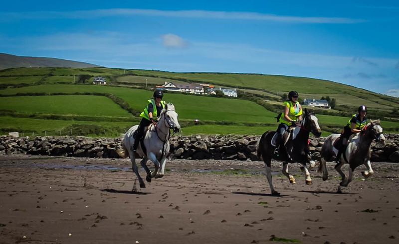 Horseback riding on the beach in Dingle, Ireland