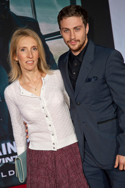 HOLLYWOOD, CA - MARCH 13: Sam Taylor-Wood (L) and actor Aaron Taylor-Johnson arrive at Marvel's 'Captain America: The Winter Soldier' premiere at the El Capitan Theatre onThursday,  March 13, 2014 in Hollywood, California. (Photo by Tom Sorensen/Moovieboy Pictures)